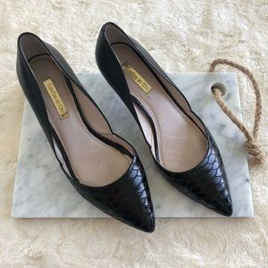 Louise et cie Black leather heels
